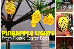 diy plastic egg pineapple string lights