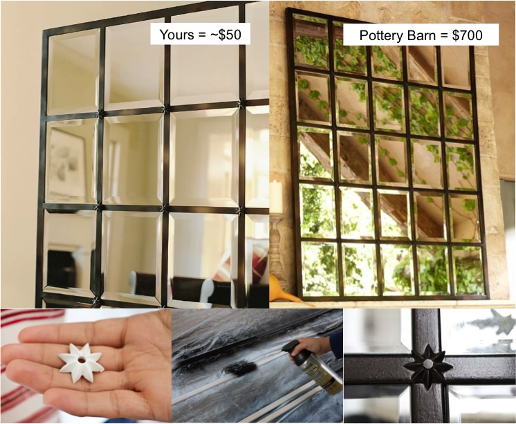 Beautiful DIY Pottery Barn Mirror