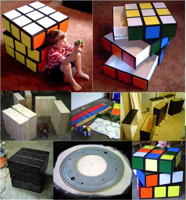diy rubics cube dresser