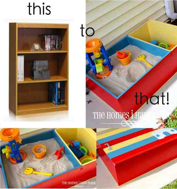 Diy sand box from an old book case do it yourself fun ideas how to transform a bookshelf to a sandbox solutioingenieria Gallery