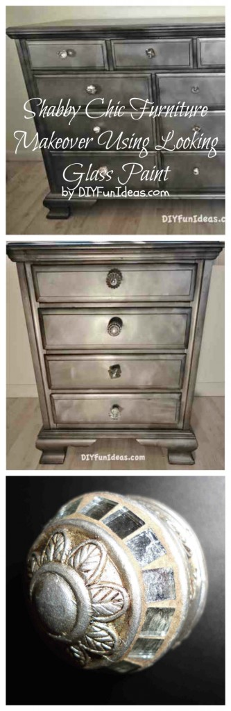 diy shabby chic furniture makeover with Looking Glass Paint