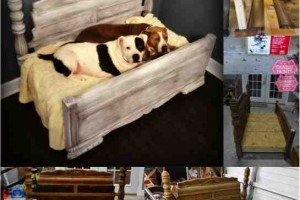 diy shabby chic pet bed