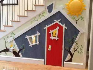diy understair playhouse