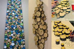 how to make wood slice art