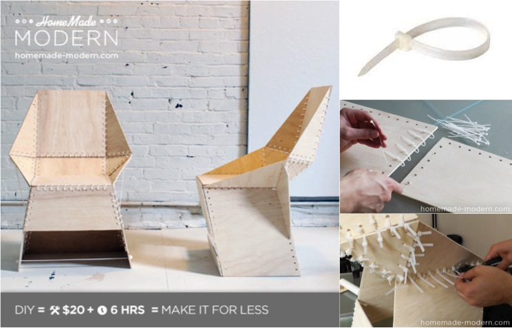 Easy DIY Modern Chair For 20