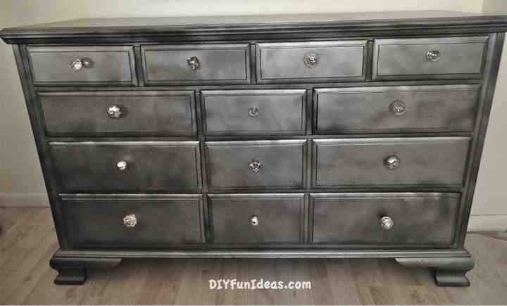 diy metallic furniture. diy furniture refurb shabby chic krylon looking glass metallic e