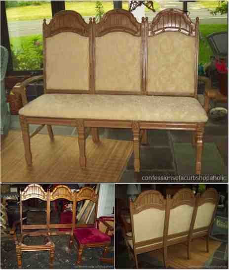 Diy Repurposed Chair Bench Do It Yourself Fun Ideas