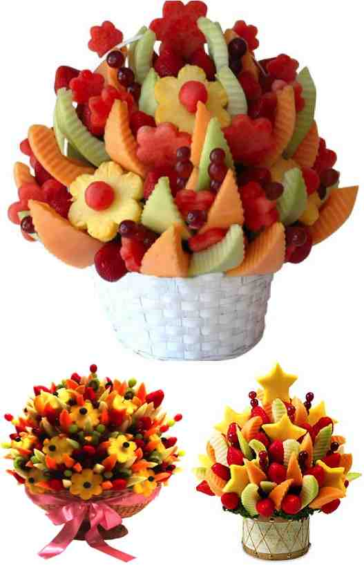 Fruit Baskets Delivery FRESH AND CRISP FRUIT BASKETS FROM THE ORCHARD Send sensational fruit gift baskets filled with sun-ripened fruit including apples, oranges, pears & more.