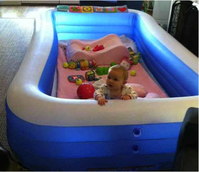 inflatable pool playpen