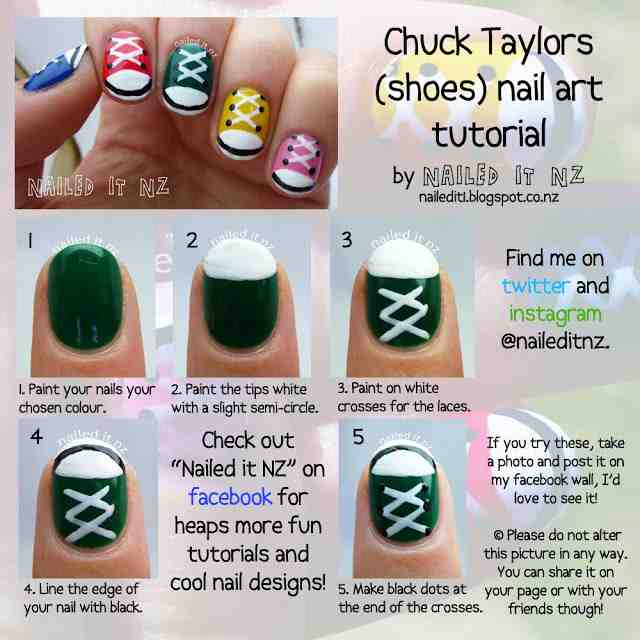 Cool Nail Art For Short Nails   Tons Of Tutorials   Do It Yourself Fun Ideas Part 29