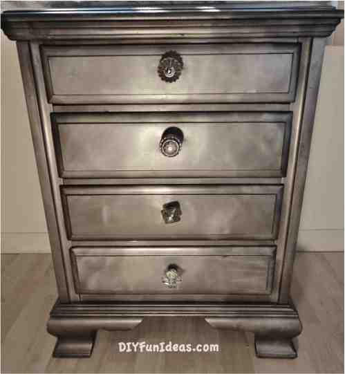 diy shabby chic night stand furniture makeover krylon Looking Glass