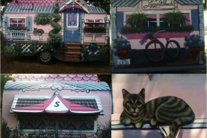 painted camper trailer mural