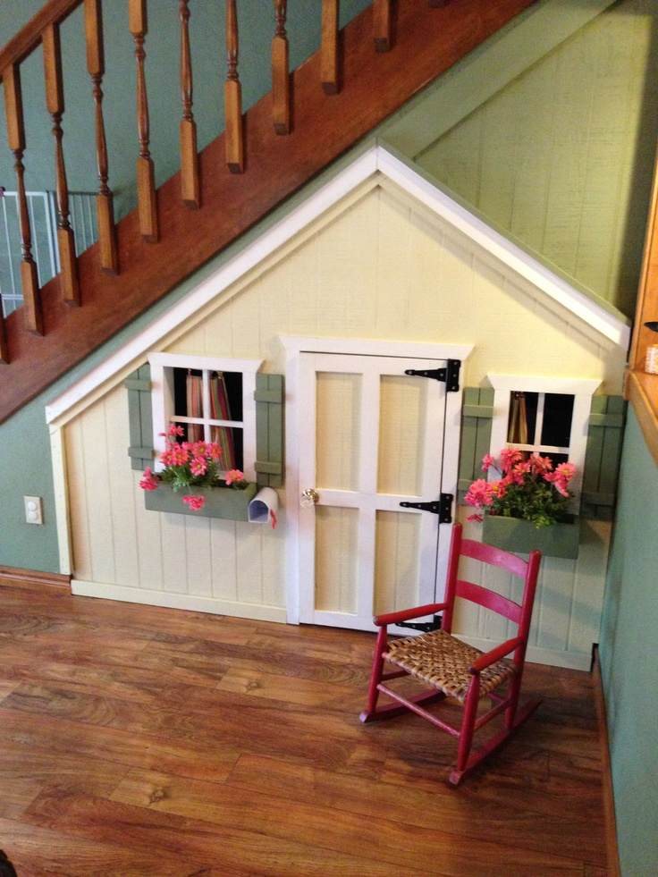 11 incredible kids playhouses under the stairs do it for Awesome playhouse plans