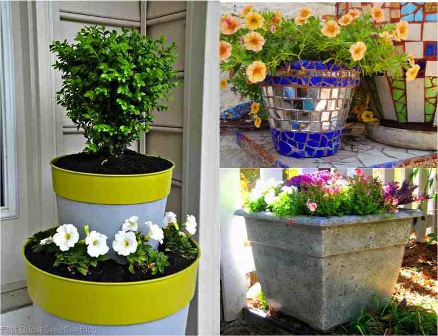 Three Tutorials For Refinishing A Plastic Flower Pot