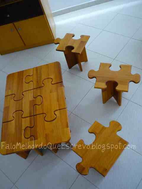 Fun Jigsaw Coffee Table And Side Tables. Enjoy!