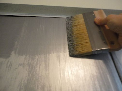 how to easily faux silver leaf with paint do it yourself fun ideas. Black Bedroom Furniture Sets. Home Design Ideas