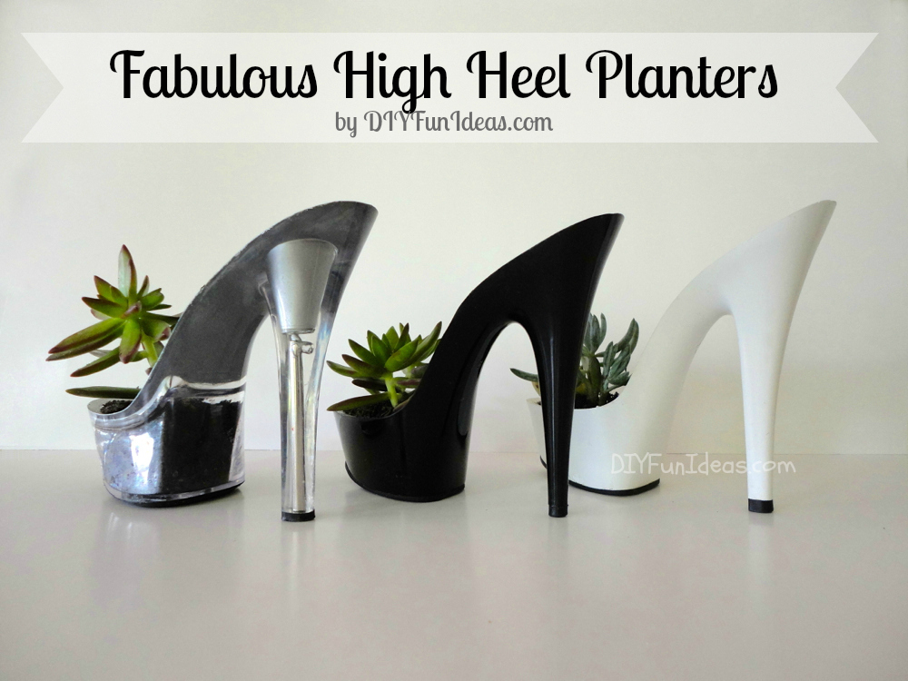 diy high heel planter succulents