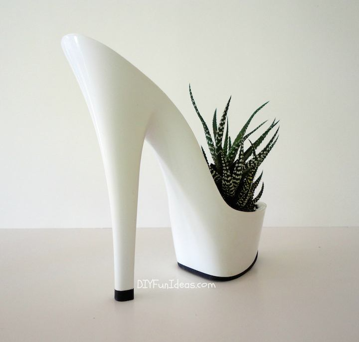 diy high heel planters succulents