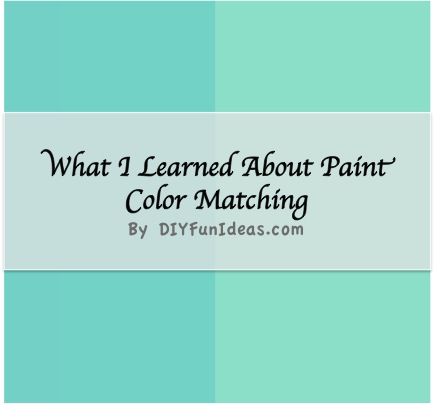what i learned about paint color matching do it yourself fun ideas