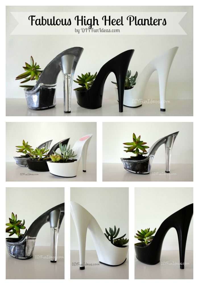 Fabulous diy high heel planters part deux do it yourself fun ideas diy high heel planter succulents solutioingenieria Gallery
