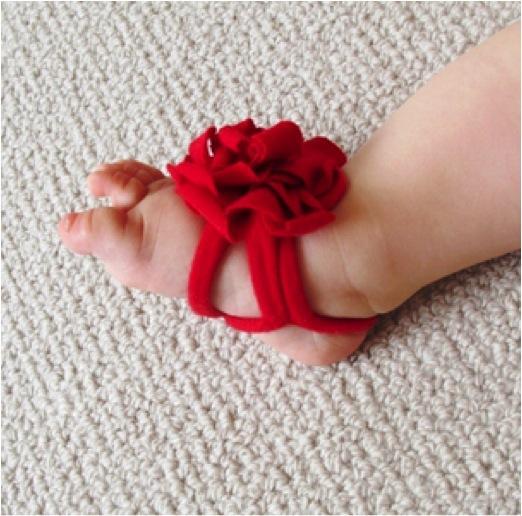 diy barefoot baby sandals 2