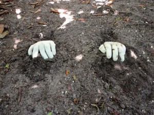 diy concrete hand planters 6