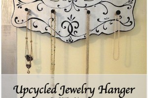 upcycled diy jewelry hanger