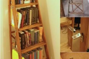 diy ladder bookshelf 2