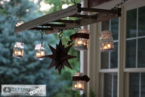 diy pottery barn hanging lantern ladder