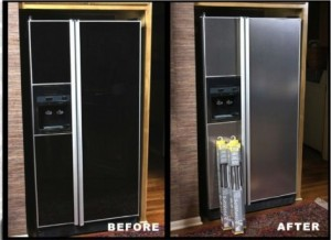 diy stainless steel kitchen makeover