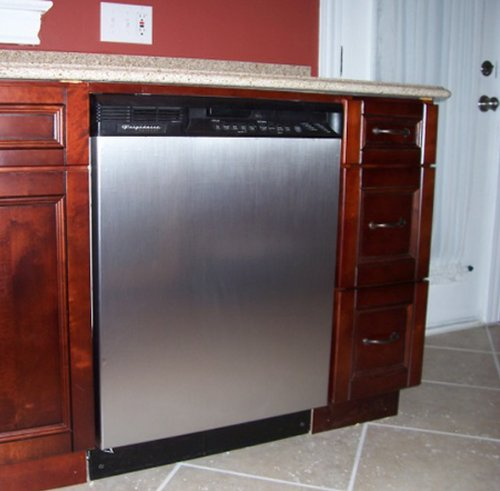 diy stainless steel kitchen makeover magnetic dishwasher cover