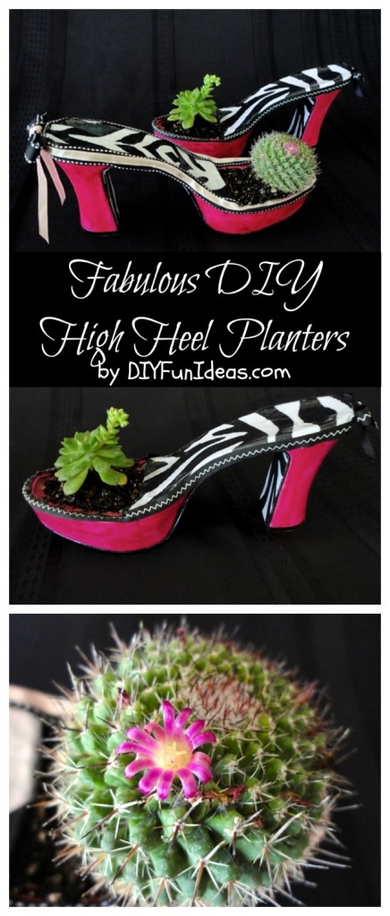 diy high heel planters