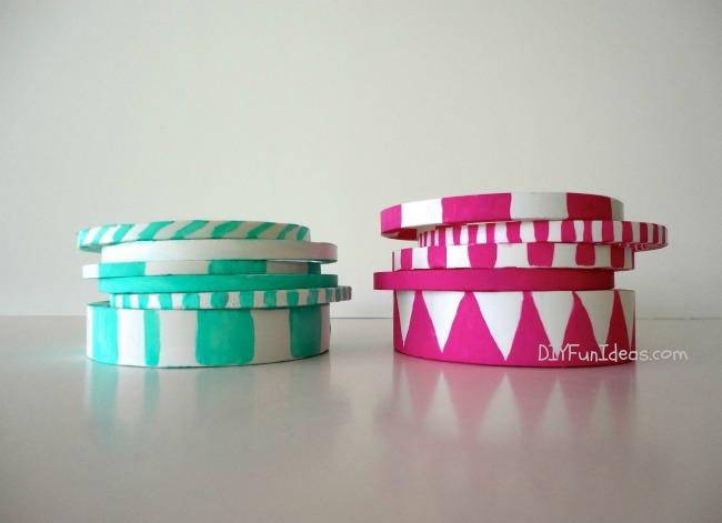 DIY PVC Bangle Bracelets