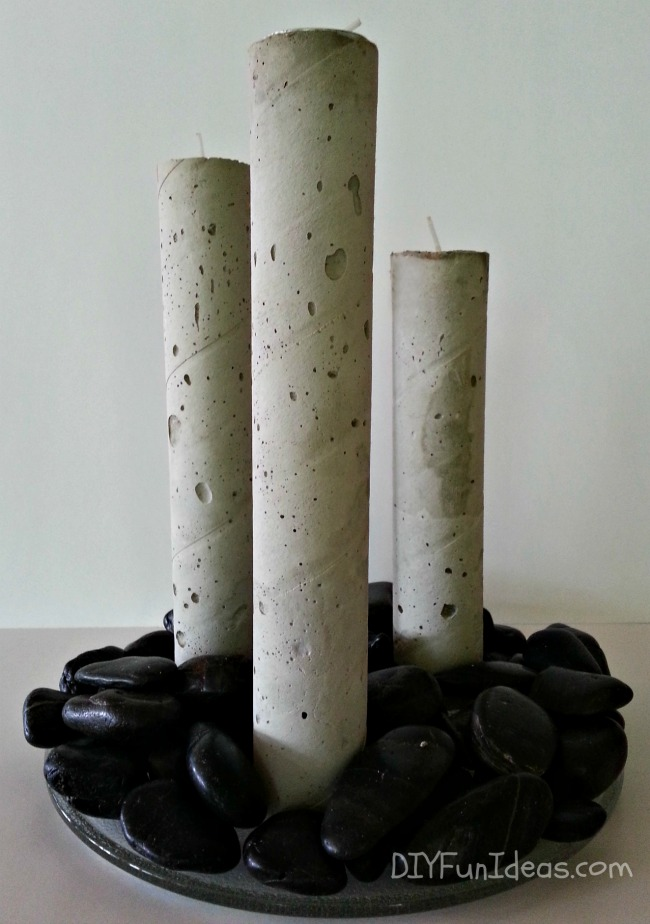 DIY Concrete TeaLight Candle Sticks