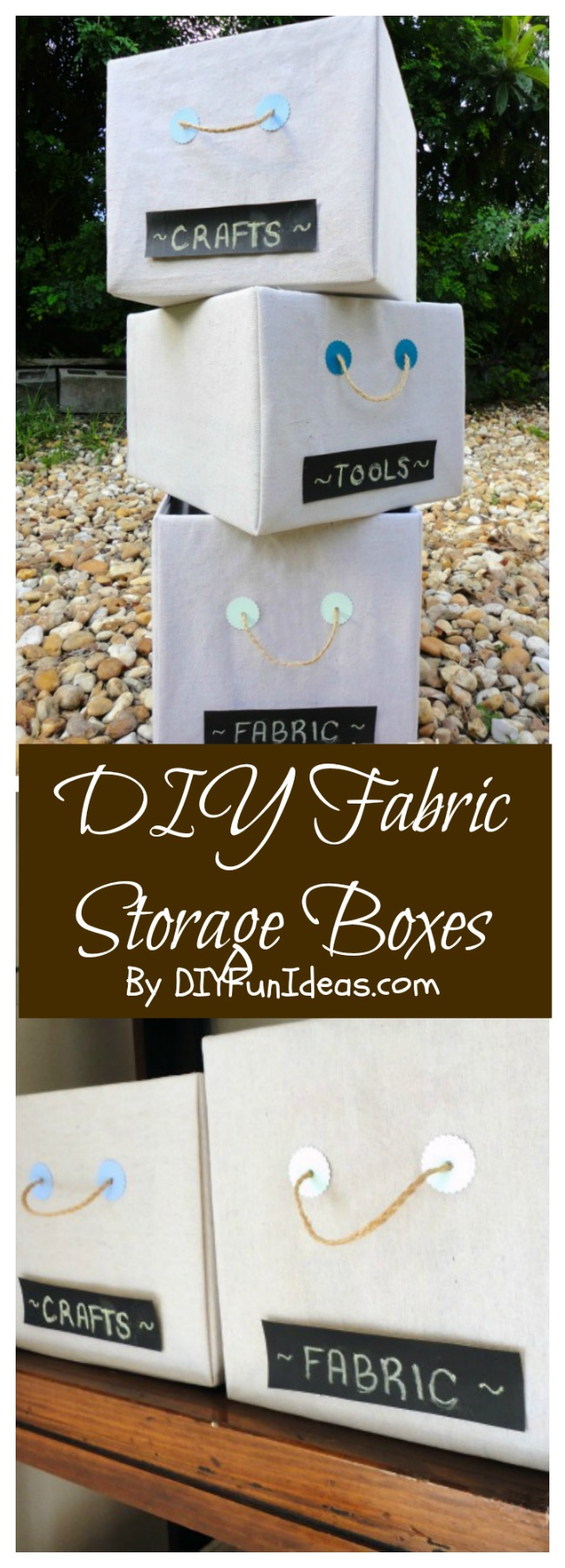 Get Organized With Diy Fabric Covered Storage Boxes Do It Yourself Fun Ideas
