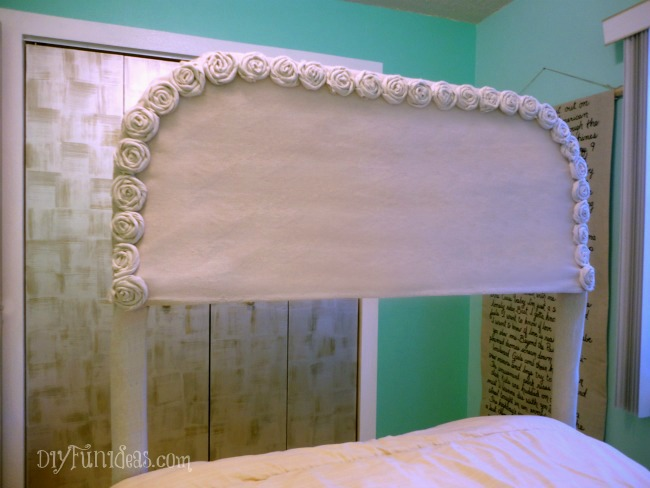 DIY No-sew headboard slip cover