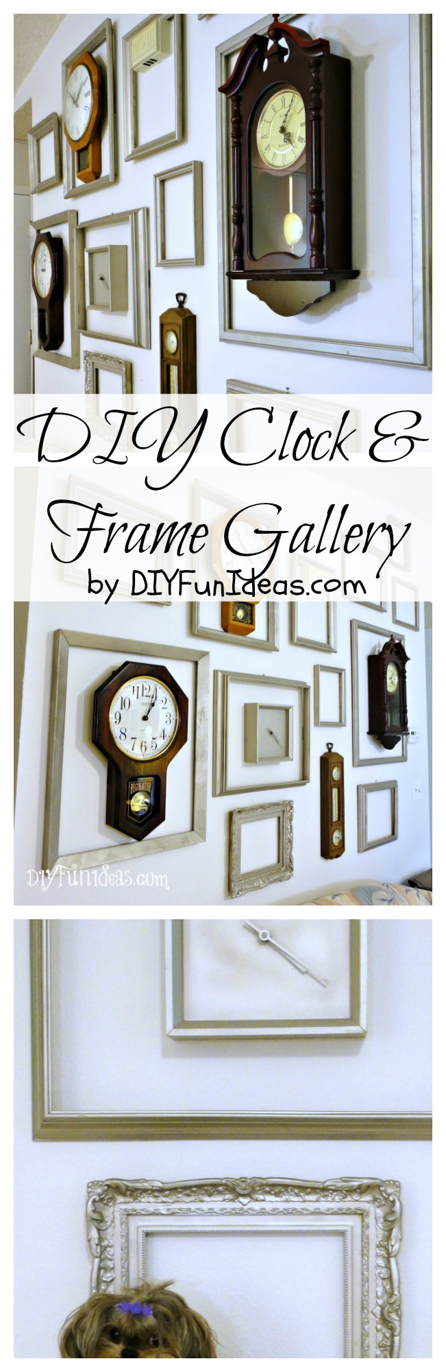 DIY CLOCK AND FRAME GALLERY - Do-It-Yourself Fun Ideas