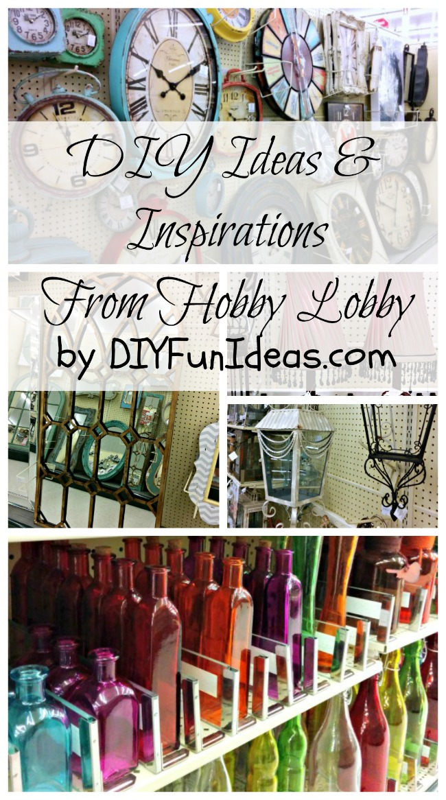 Diy ideas inspirations from hobby lobby do it yourself for Crafts and hobbies ideas