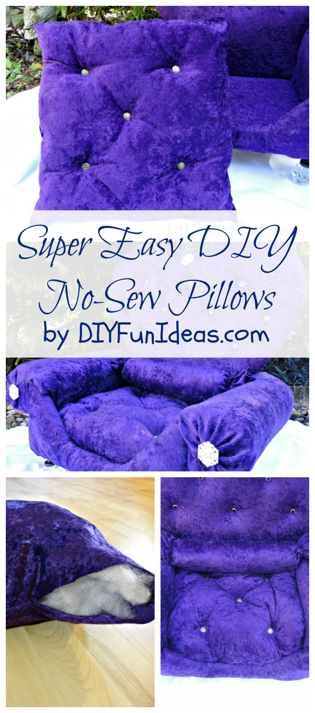 Easy DIY No Sew Pillows