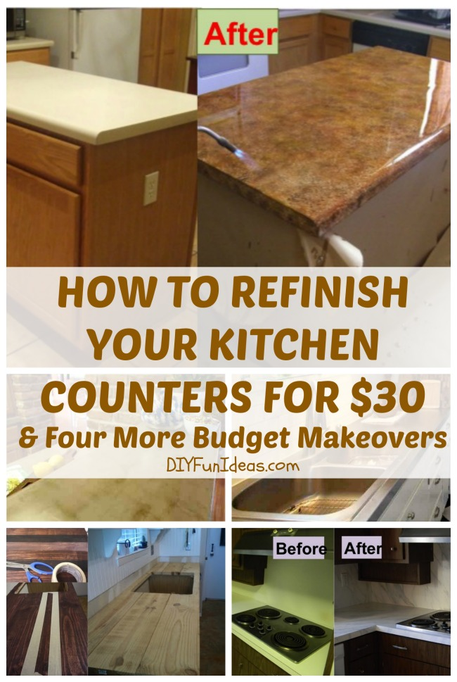 how to refinish your kitchen counter tops for only $30!
