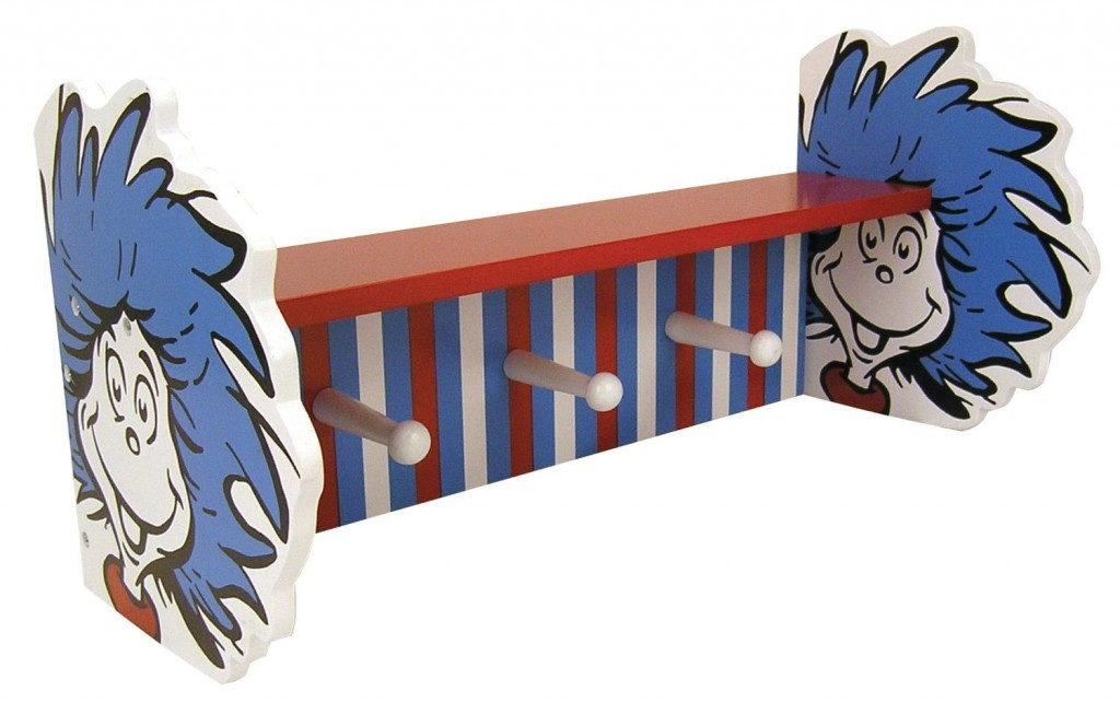 dr. seuss shelf coat rack