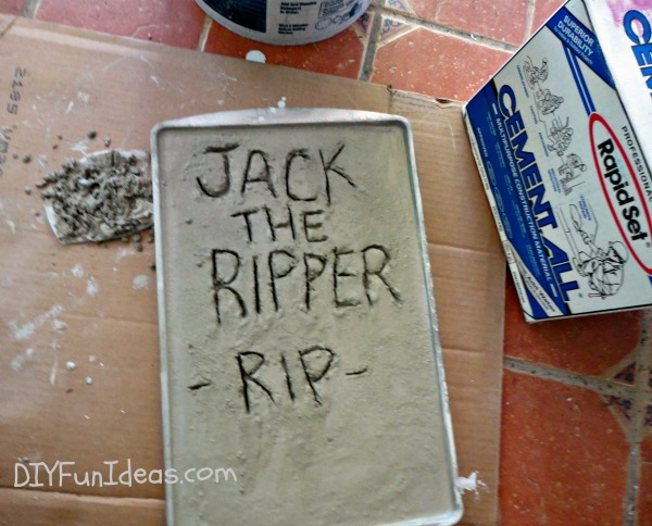 Halloween Craft Diy Concrete Tombstones