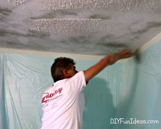 How to remove popcorn ceilings in 30 minutes for How to remove popcorn ceiling without water