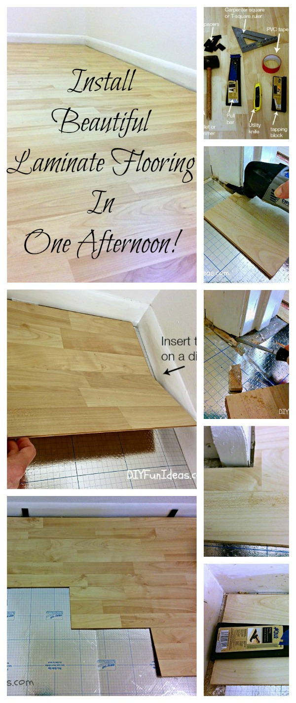 How to install beautiful laminate floors in one afternoon do it how to install laminate floors solutioingenieria