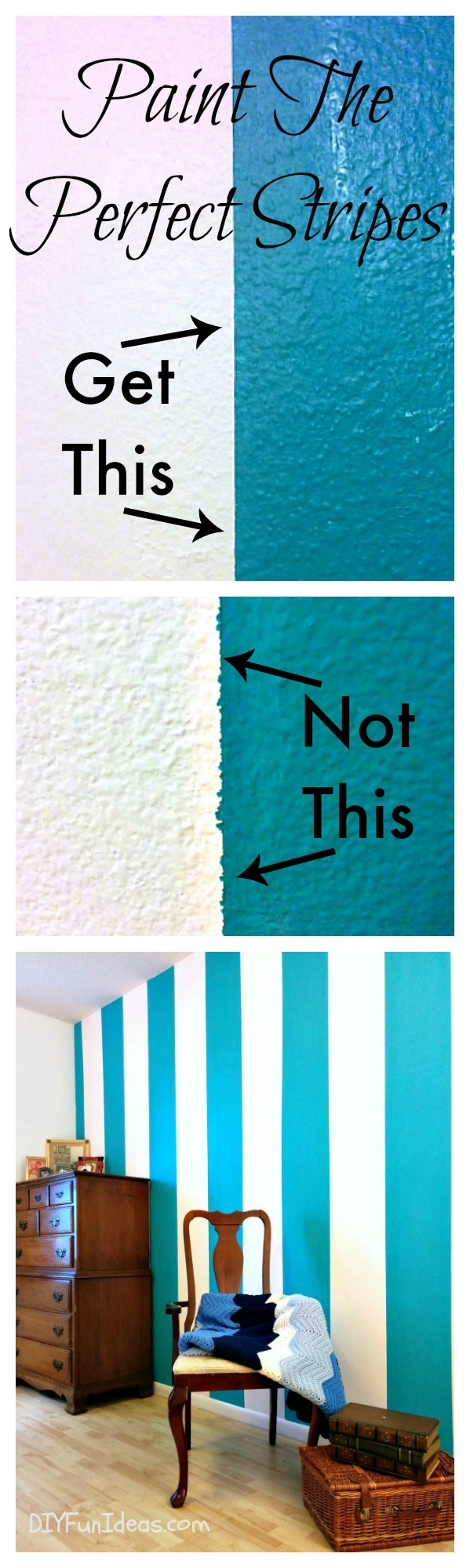 the secret to painting perfectly sharp lines stripes