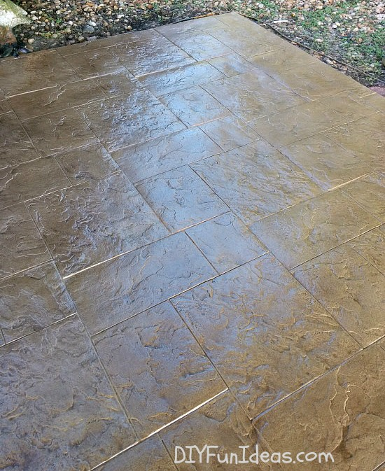 Gorgeous diy stamped concrete tile driveway for less ch less diy stamped concrete tile driveway solutioingenieria Choice Image