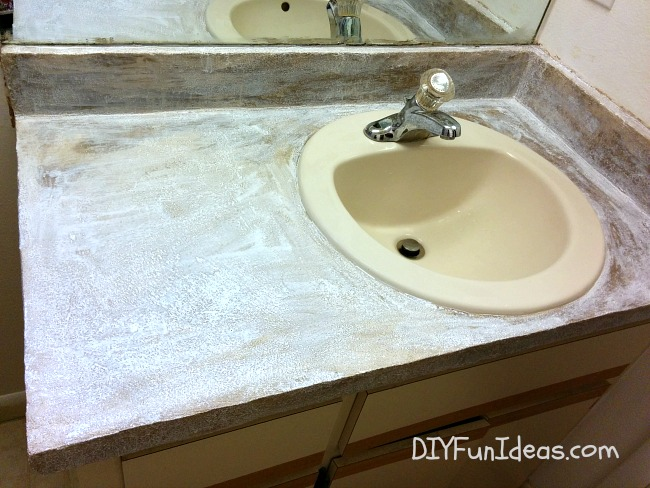 Diy Concrete Counter Overlay Vanity Makeover