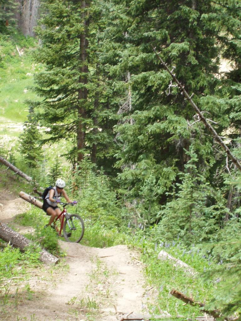 Jen, the mountain biker