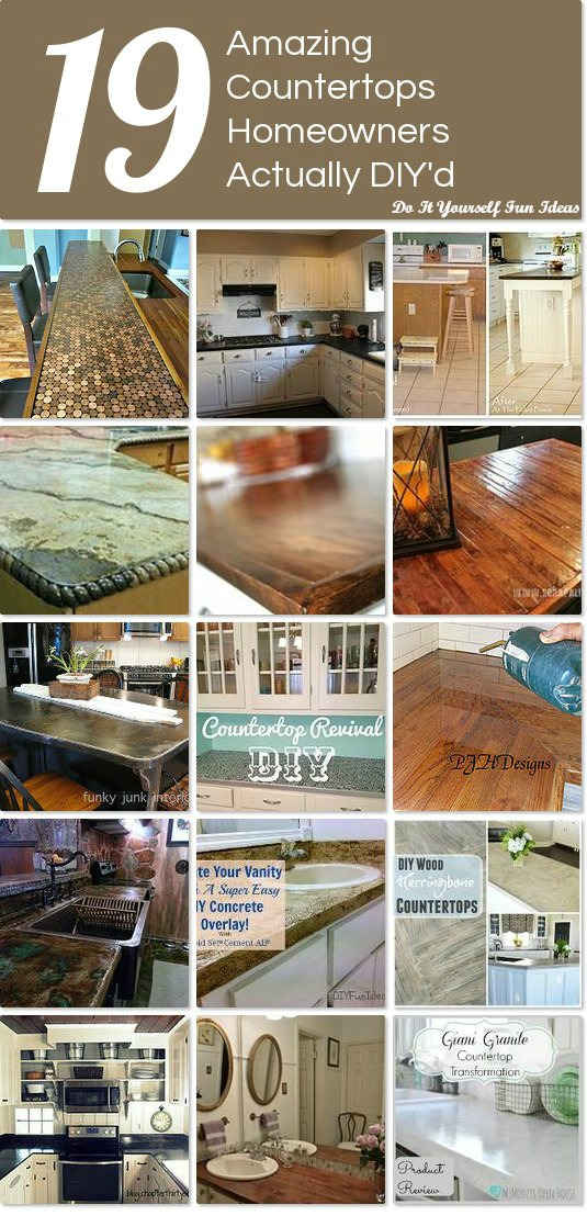 19 COUNTERTOPS HOMEOWNERS ACTUALLY DIY'd