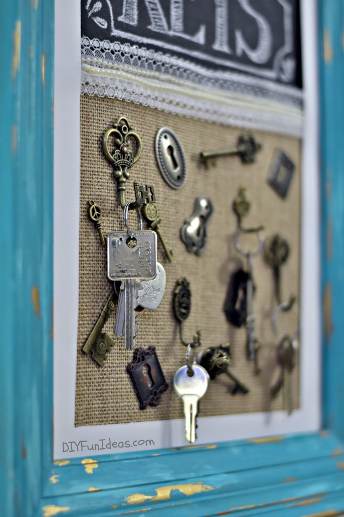 How To Make A DIY Hanging Key Holder Frame So You Never Lose Your Keys Again